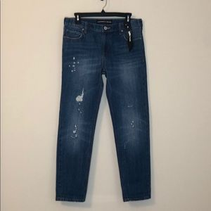 NWT Express jeans - girlfriend -size 2 -distressed